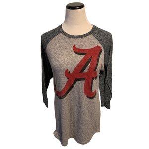 University of Alabama Vintage Style Baseball Shirt